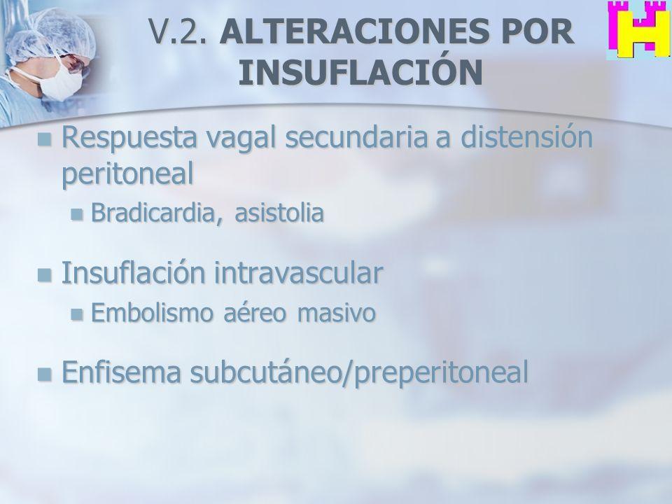 V.2. ALTERACIONES POR INSUFLACIÓN