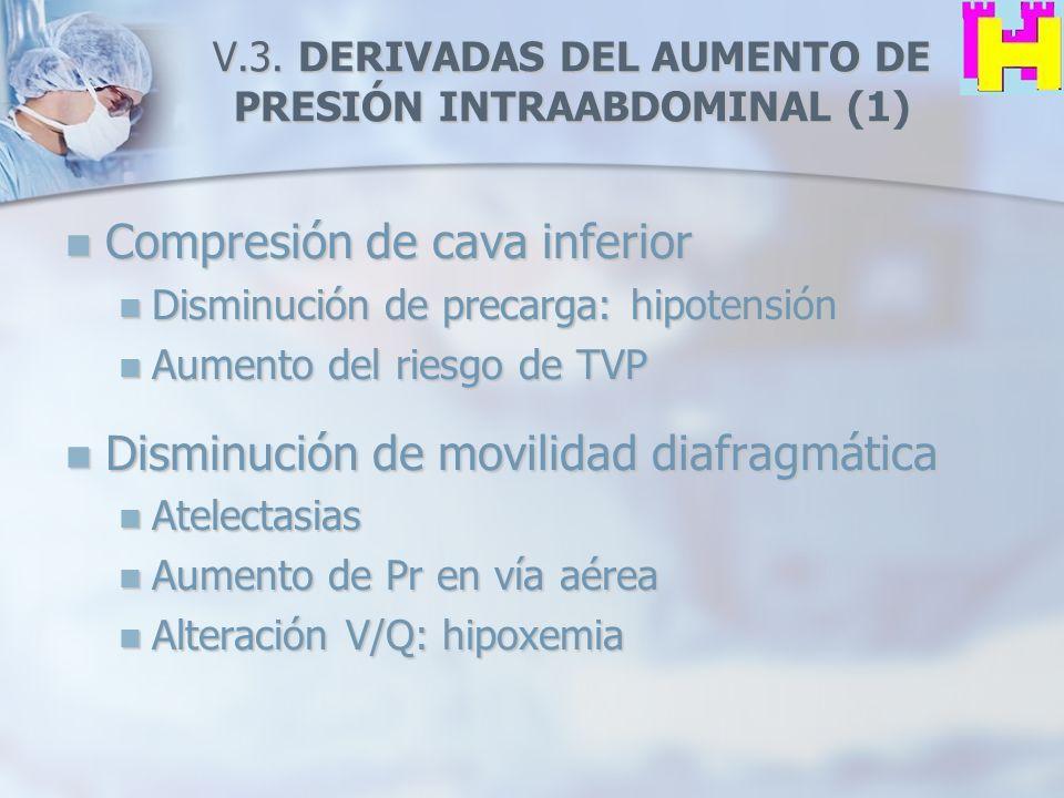 V.3. DERIVADAS DEL AUMENTO DE PRESIÓN INTRAABDOMINAL (1)