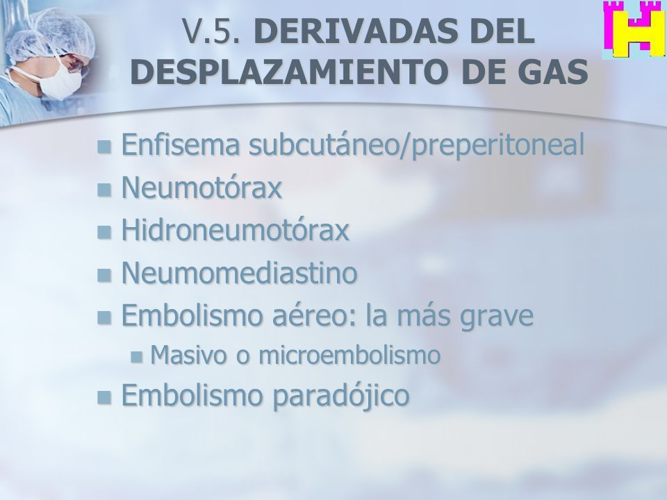 V.5. DERIVADAS DEL DESPLAZAMIENTO DE GAS
