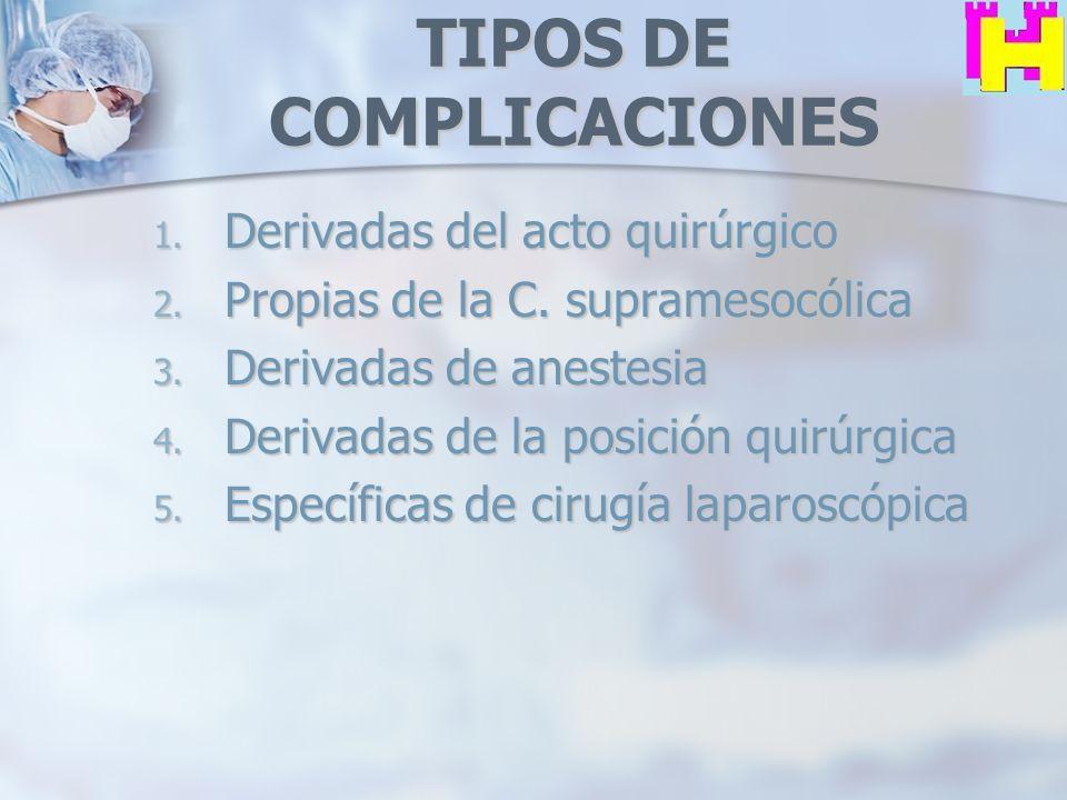 TIPOS DE COMPLICACIONES