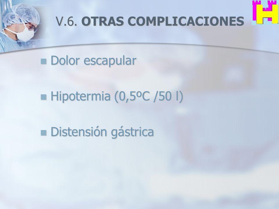 V.6. OTRAS COMPLICACIONES