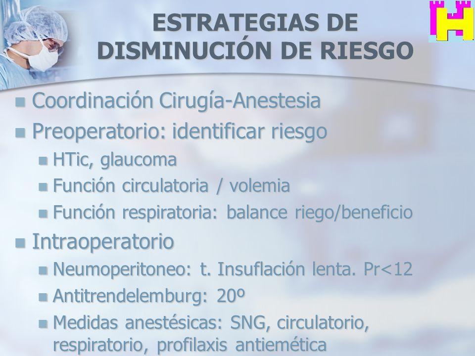 ESTRATEGIAS DE DISMINUCIÓN DE RIESGO