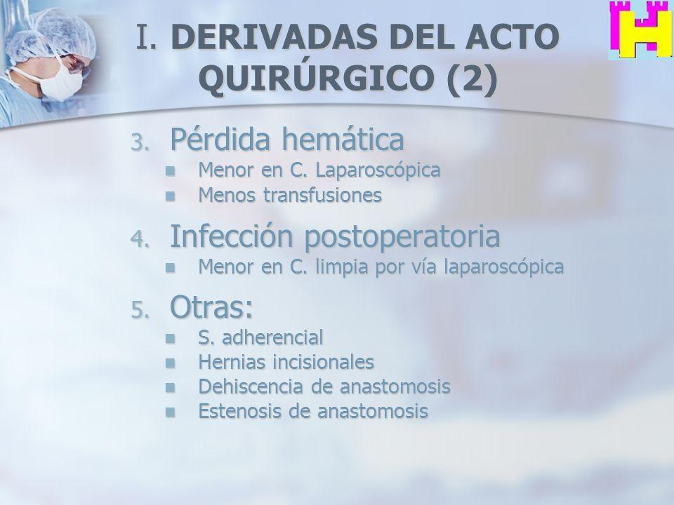I. DERIVADAS DEL ACTO QUIRÚRGICO (2)