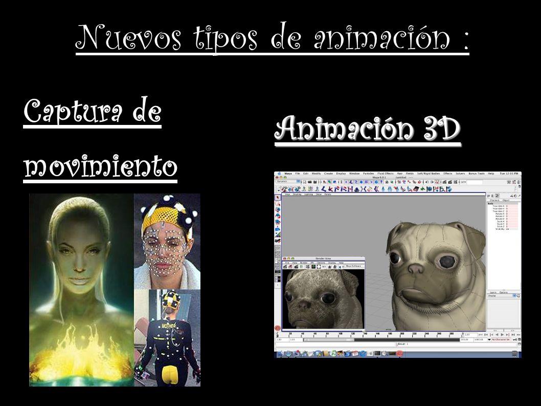 Nuevos tipos de animación :
