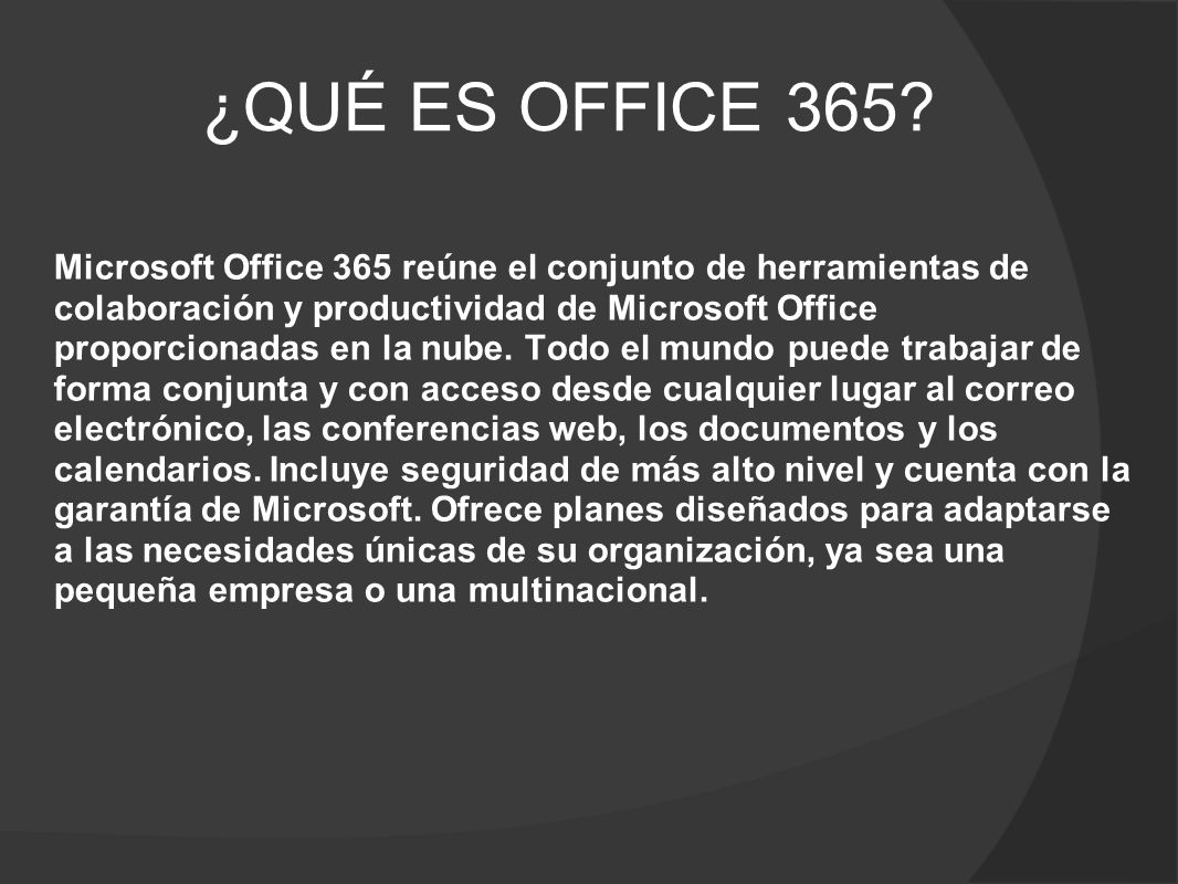 ¿QUÉ ES OFFICE 365