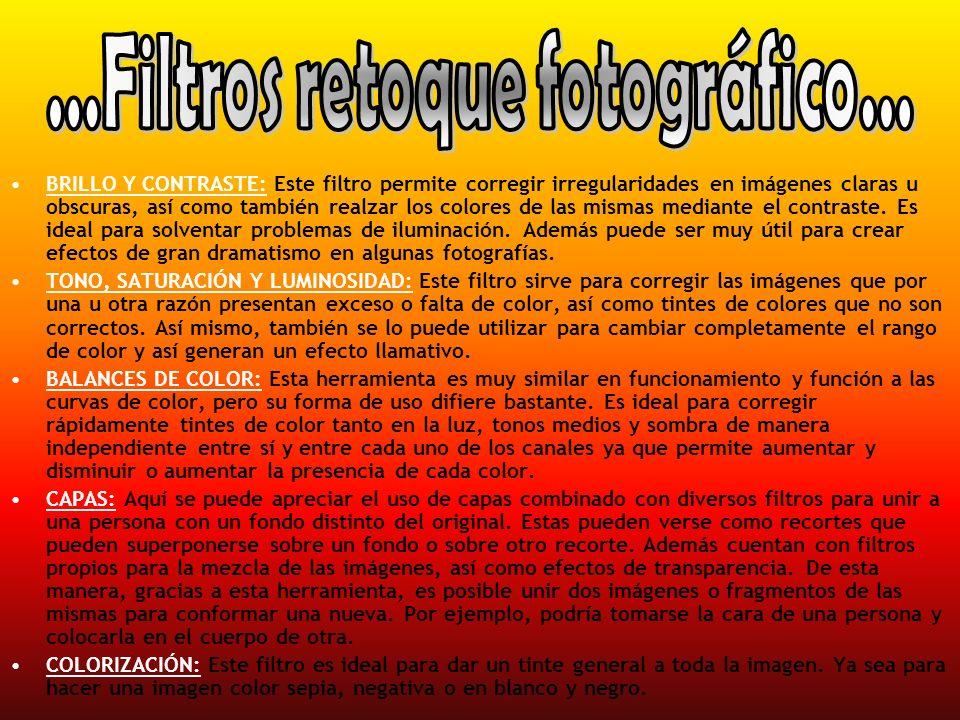 ...Filtros retoque fotográfico...
