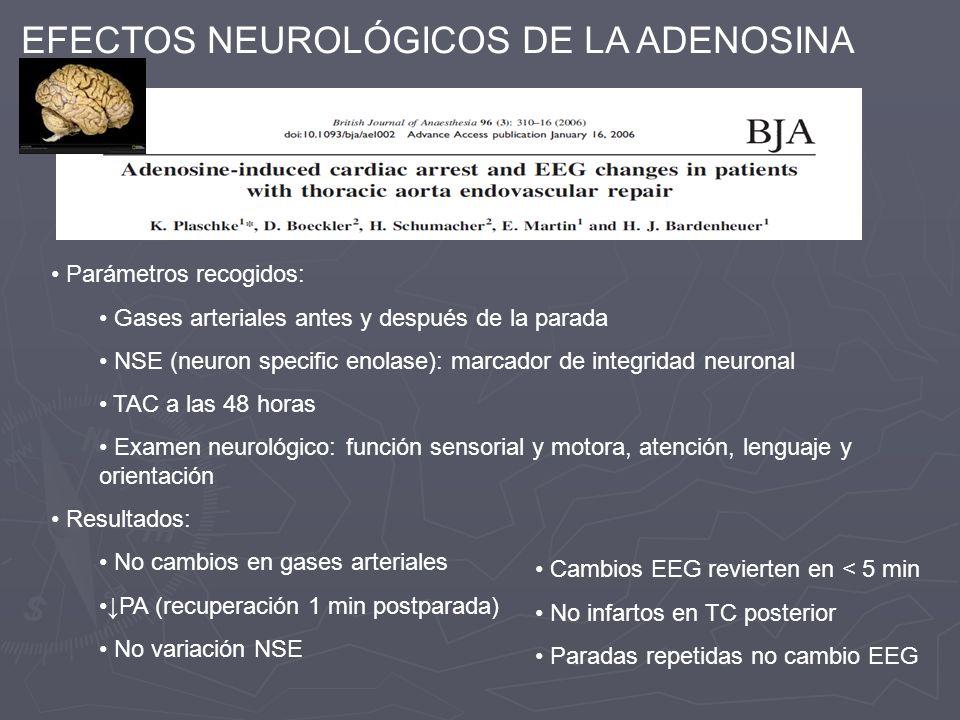 EFECTOS NEUROLÓGICOS DE LA ADENOSINA