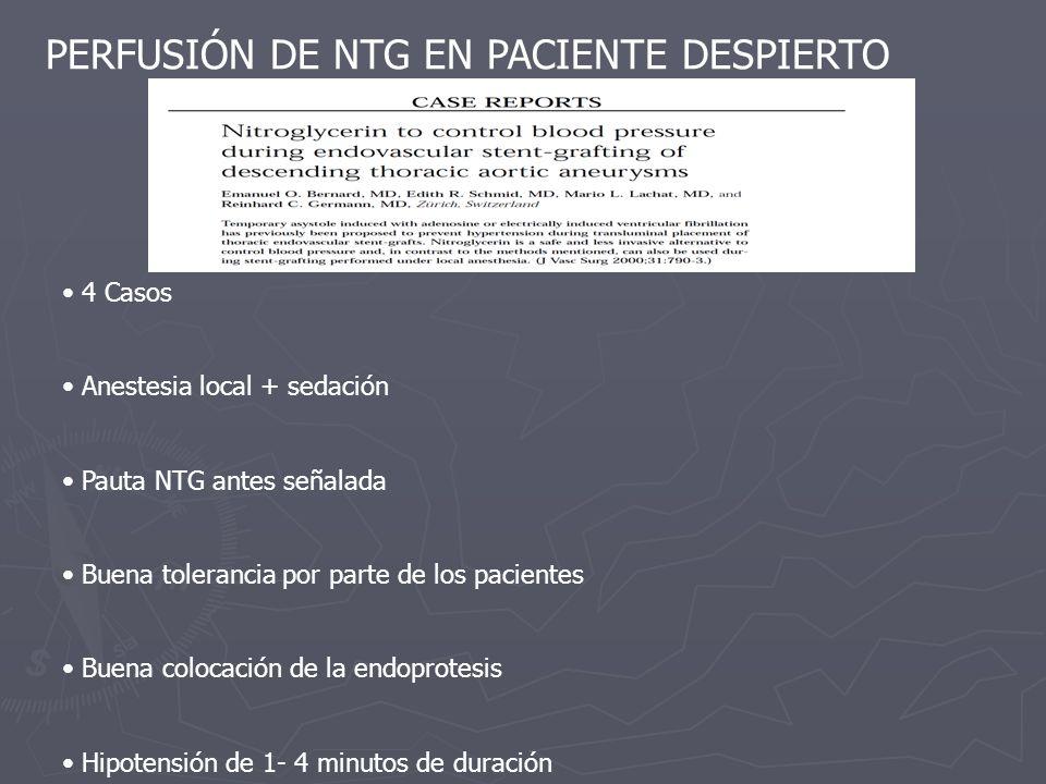 PERFUSIÓN DE NTG EN PACIENTE DESPIERTO
