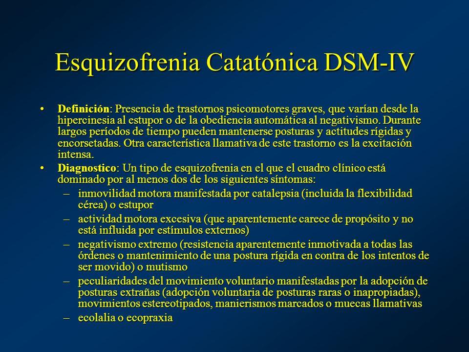 Esquizofrenia Catatónica DSM-IV