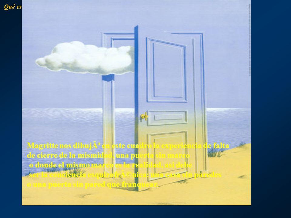 Magritte nos dibujó en este cuadro la experiencia de falta
