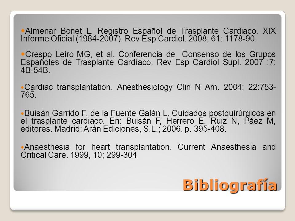 Almenar Bonet L. Registro Español de Trasplante Cardiaco