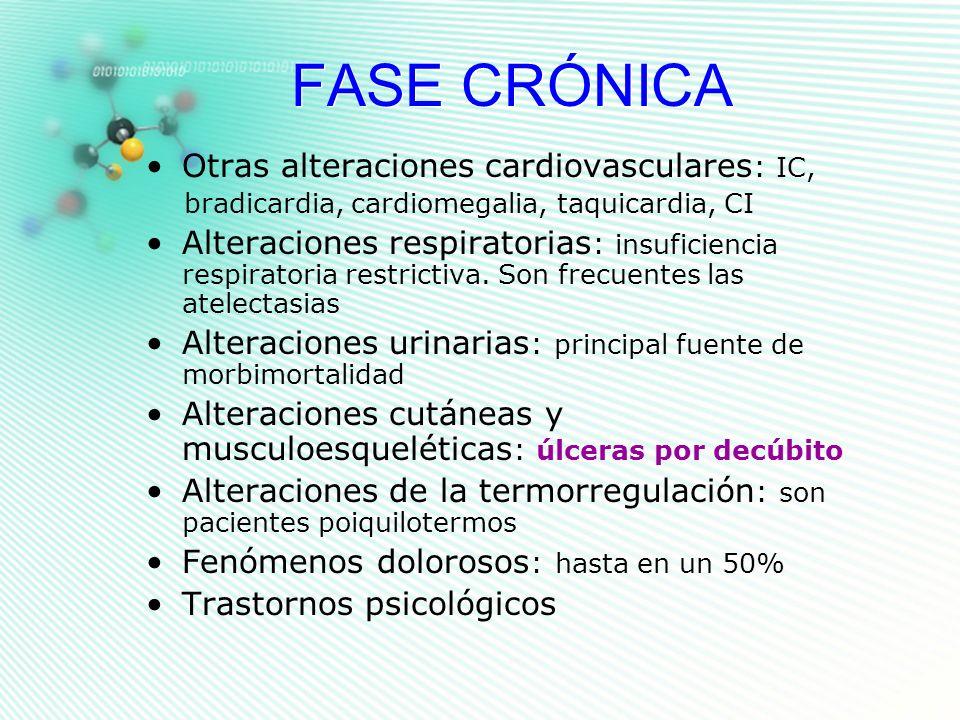 FASE CRÓNICA Otras alteraciones cardiovasculares: IC,