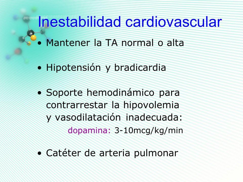 Inestabilidad cardiovascular