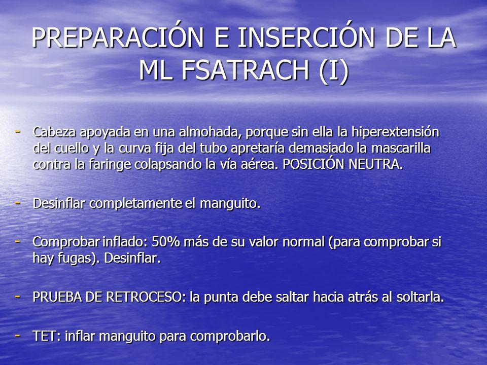 PREPARACIÓN E INSERCIÓN DE LA ML FSATRACH (I)