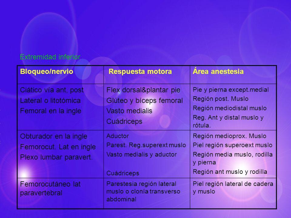 Flex dorsal&plantar pie Glúteo y bíceps femoral Vasto medialis