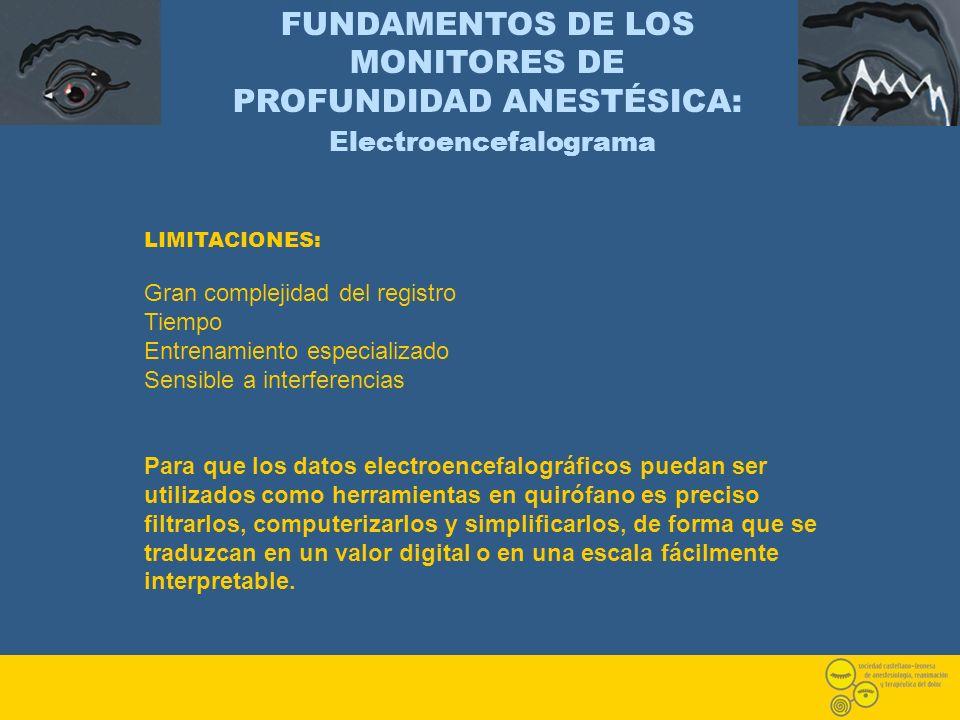 FUNDAMENTOS DE LOS MONITORES DE PROFUNDIDAD ANESTÉSICA: