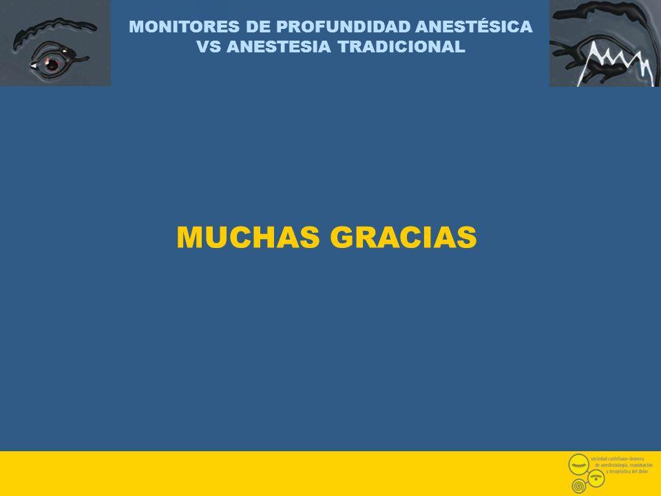 MONITORES DE PROFUNDIDAD ANESTÉSICA VS ANESTESIA TRADICIONAL