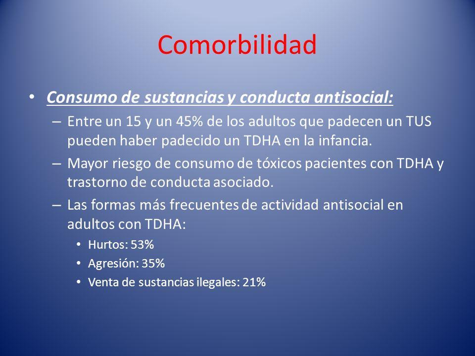 Comorbilidad Consumo de sustancias y conducta antisocial: