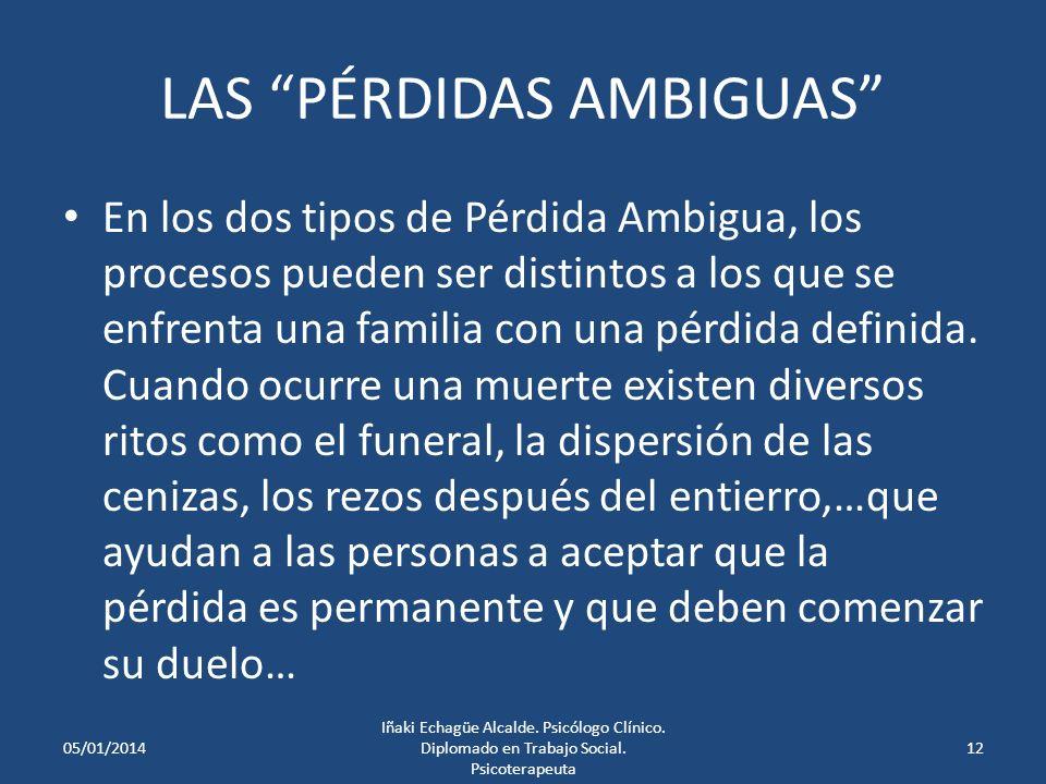 LAS PÉRDIDAS AMBIGUAS