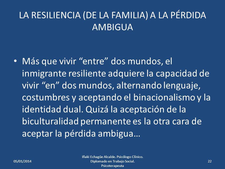 LA RESILIENCIA (DE LA FAMILIA) A LA PÉRDIDA AMBIGUA