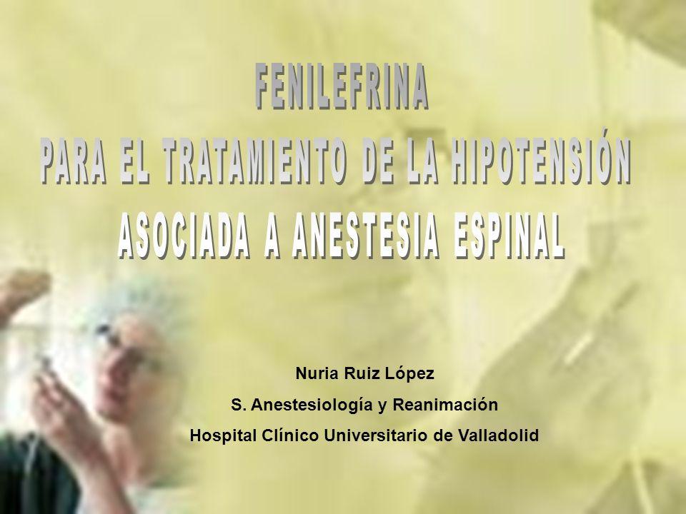 PARA EL TRATAMIENTO DE LA HIPOTENSIÓN ASOCIADA A ANESTESIA ESPINAL
