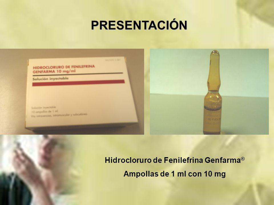 Hidrocloruro de Fenilefrina Genfarma®