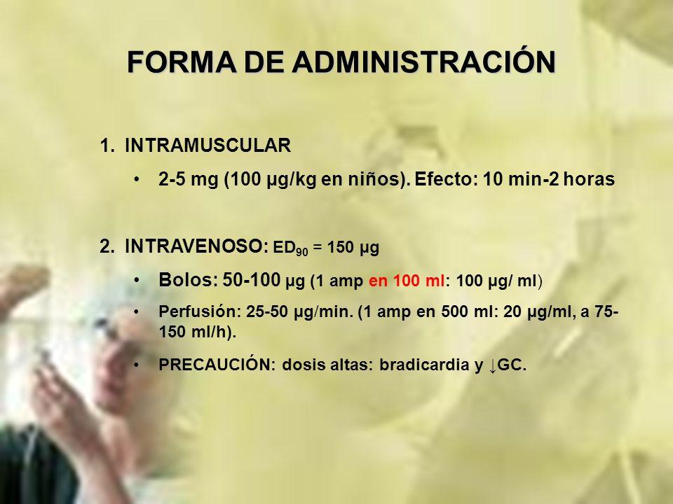 FORMA DE ADMINISTRACIÓN