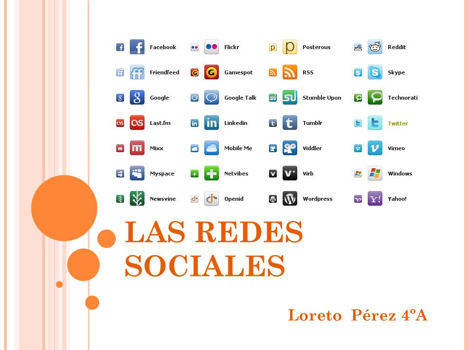 LAS REDES SOCIALES Loreto Pérez 4ºA