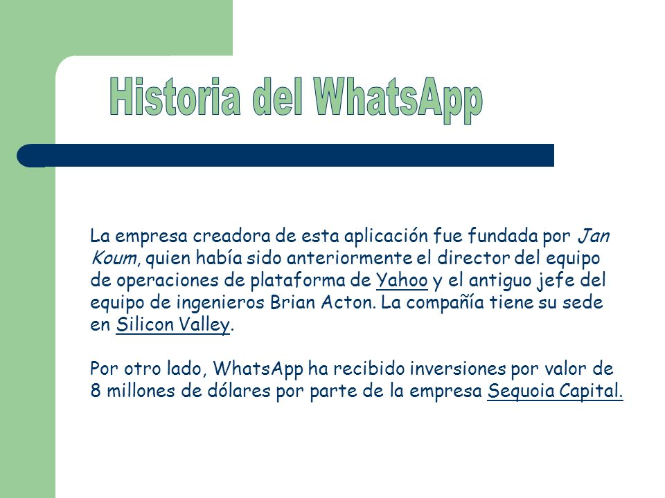Historia del WhatsApp