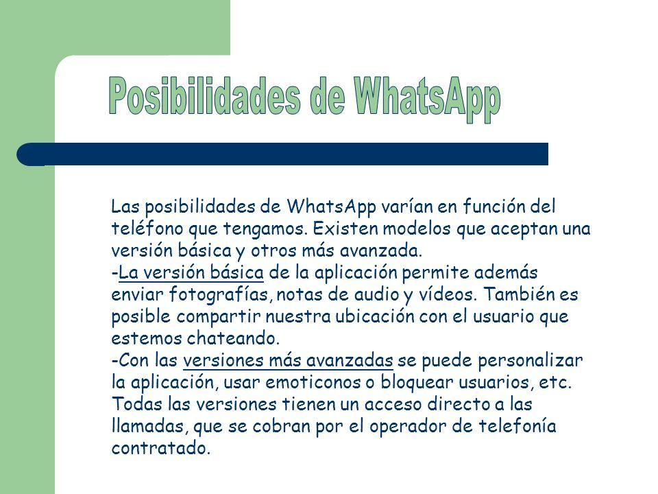 Posibilidades de WhatsApp