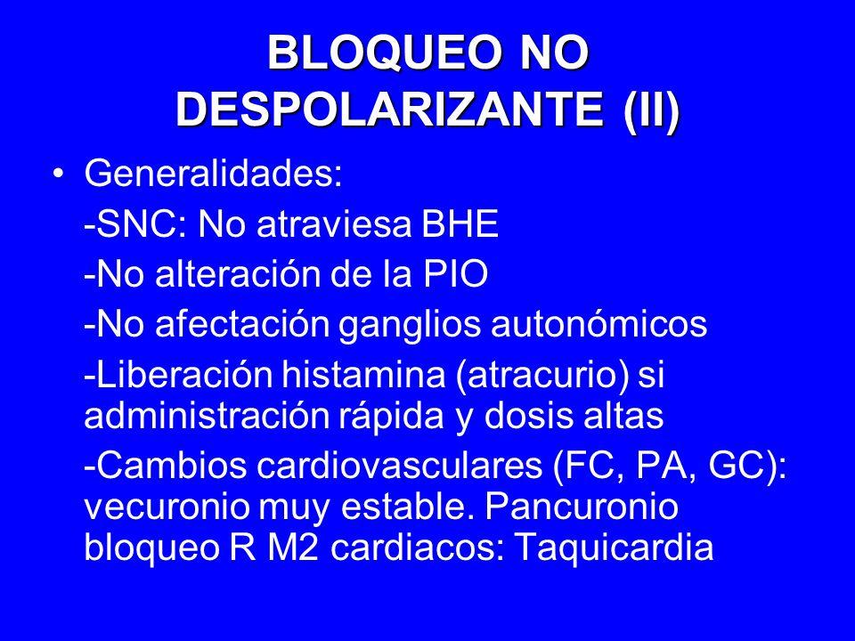 BLOQUEO NO DESPOLARIZANTE (II)