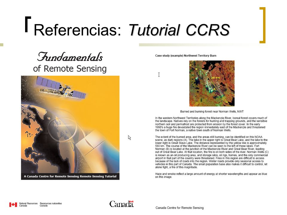 Referencias: Tutorial CCRS