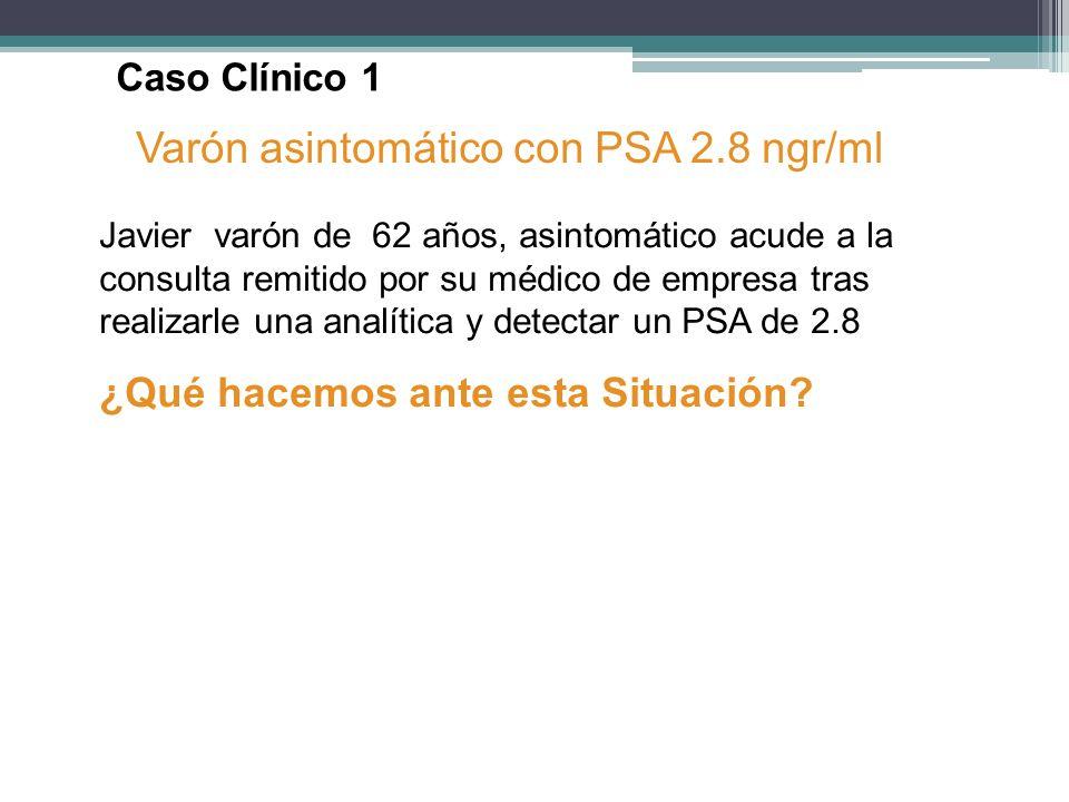 Varón asintomático con PSA 2.8 ngr/ml