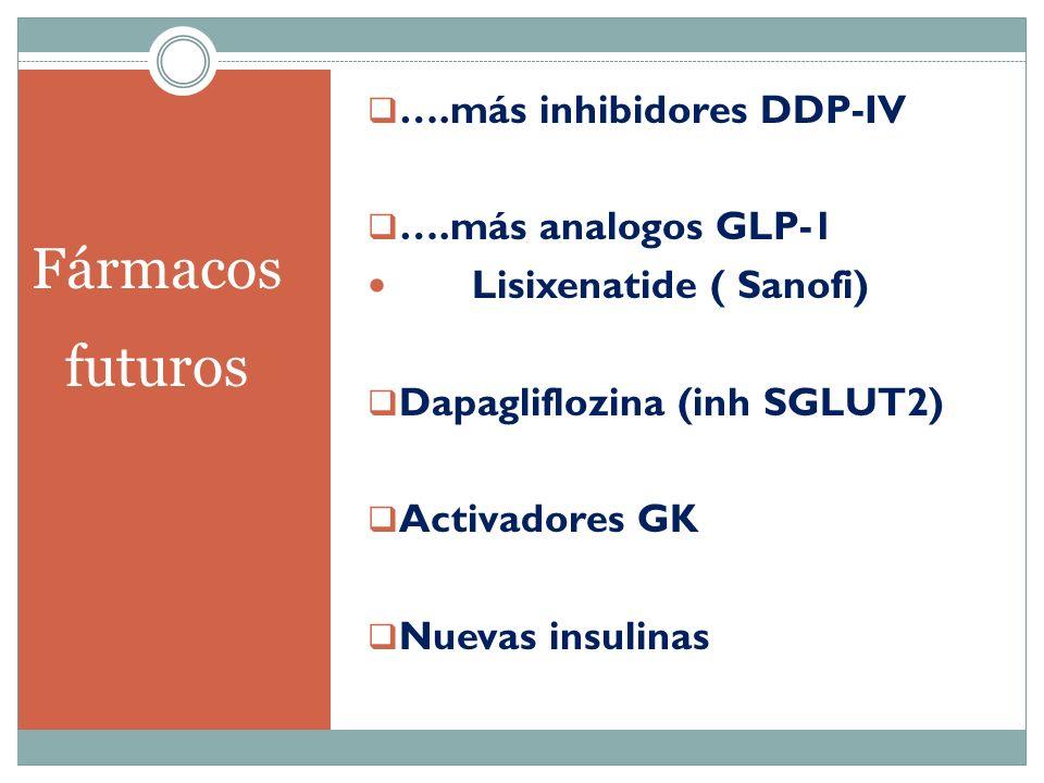 Fármacos futuros ….más inhibidores DDP-IV ….más analogos GLP-1