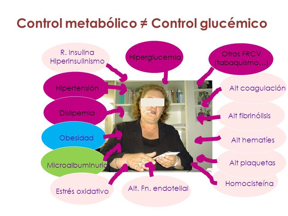 Control metabólico ≠ Control glucémico