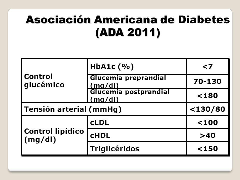 Asociación Americana de Diabetes (ADA 2011)