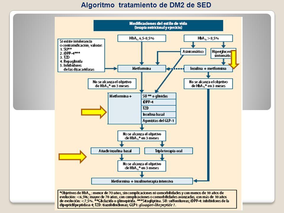 Algoritmo tratamiento de DM2 de SED