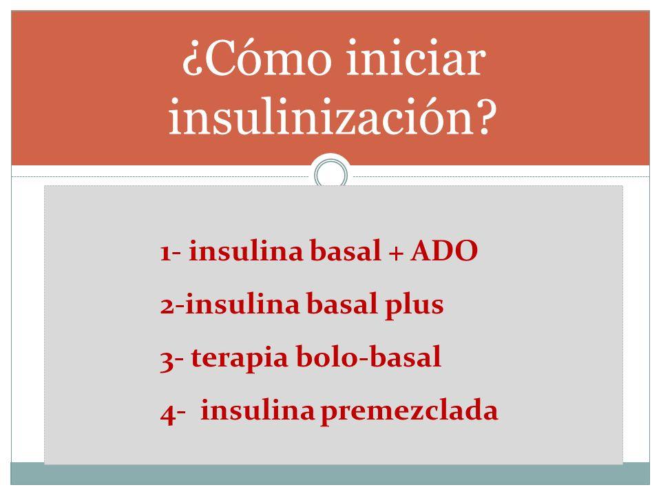 ¿Cómo iniciar insulinización