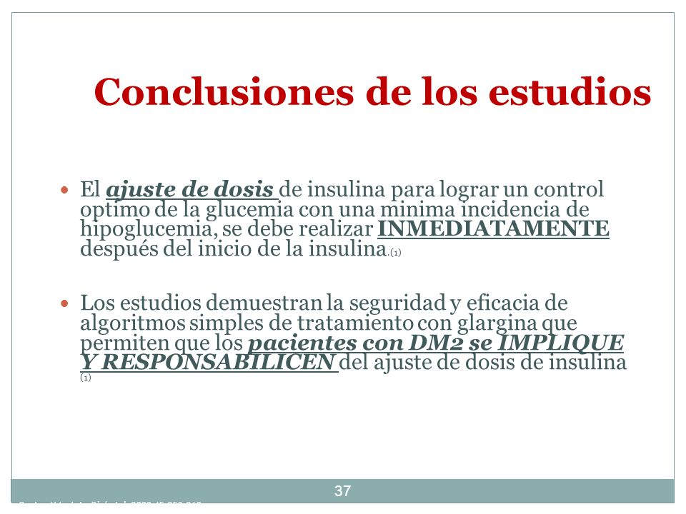 Conclusiones de los estudios
