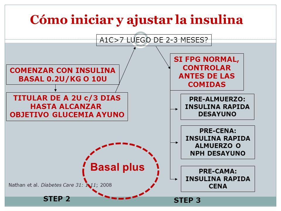 Cómo iniciar y ajustar la insulina
