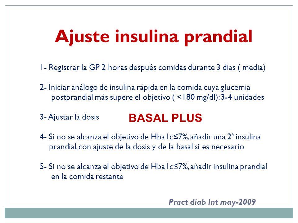 Ajuste insulina prandial