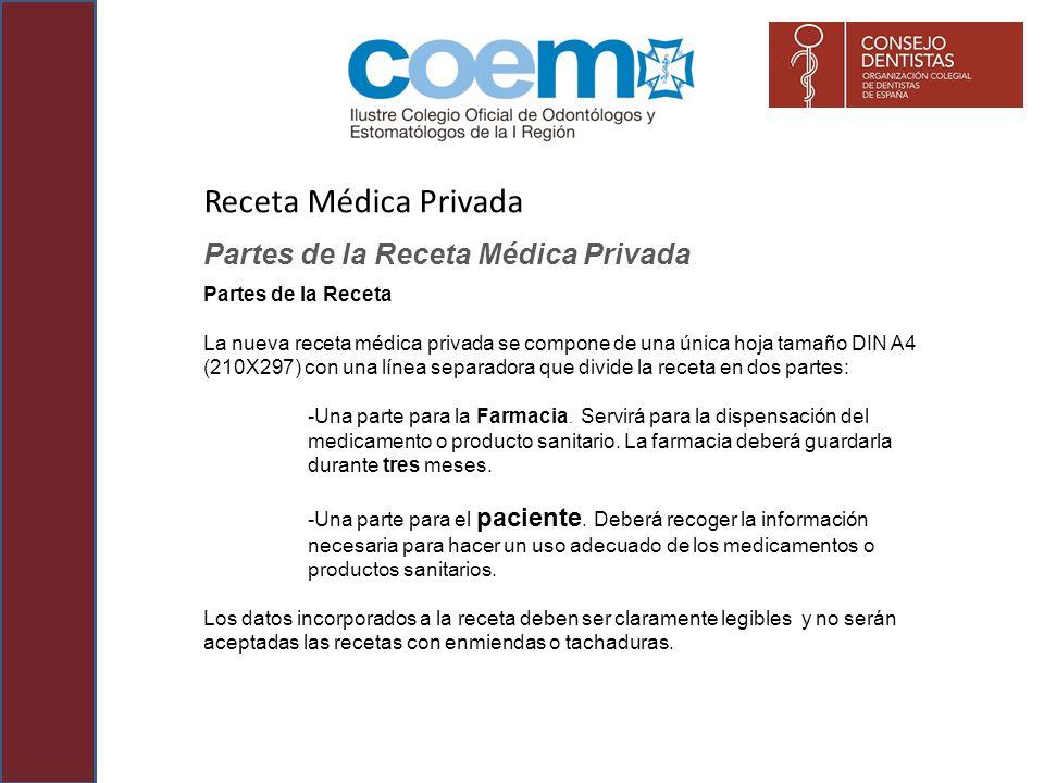 Receta Médica Privada Partes de la Receta Médica Privada