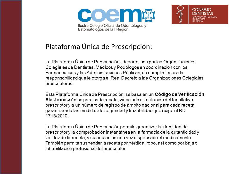 Plataforma Única de Prescripción: