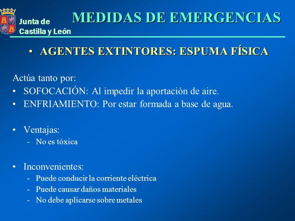 AGENTES EXTINTORES: ESPUMA FÍSICA