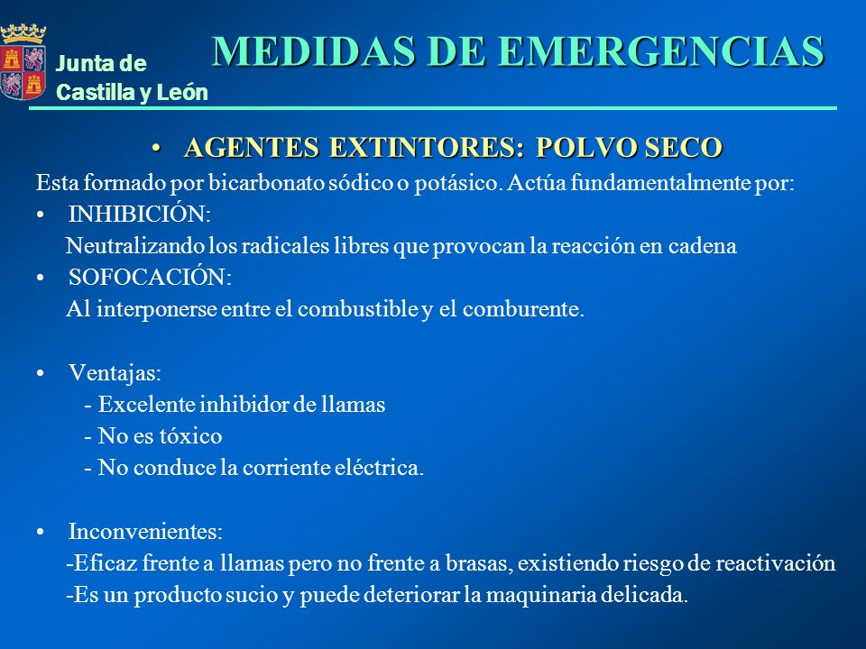 AGENTES EXTINTORES: POLVO SECO