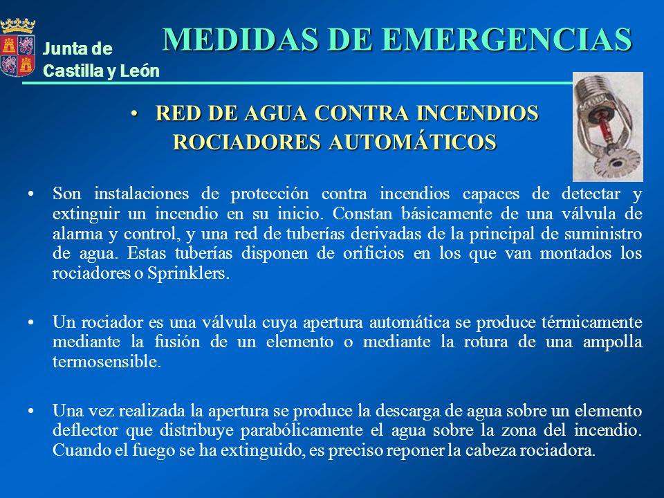 RED DE AGUA CONTRA INCENDIOS ROCIADORES AUTOMÁTICOS