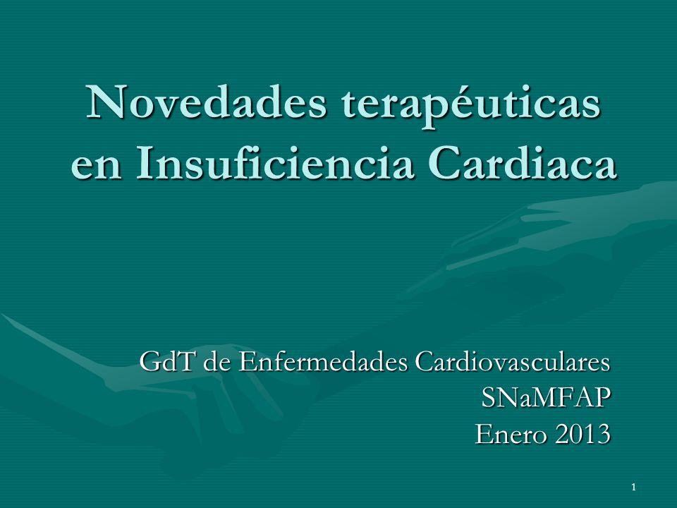 Novedades terapéuticas en Insuficiencia Cardiaca