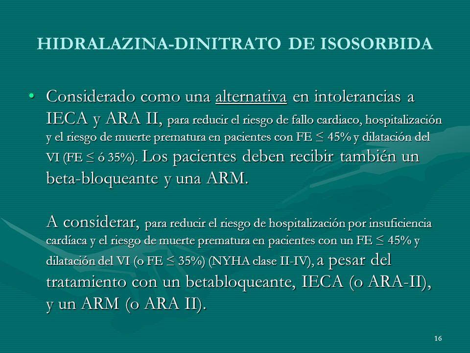 HIDRALAZINA-DINITRATO DE ISOSORBIDA