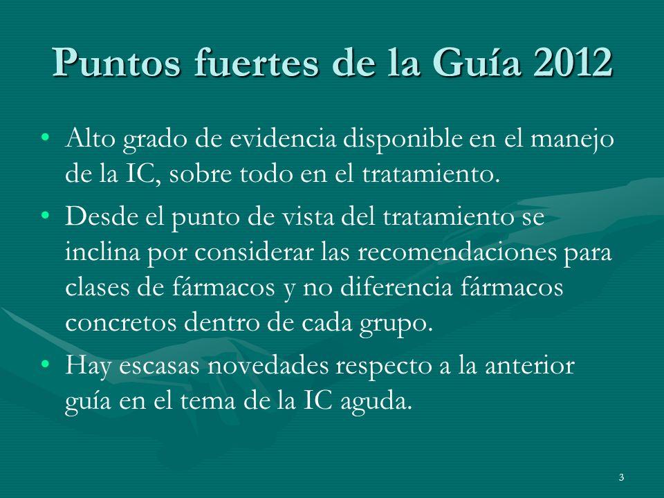 Puntos fuertes de la Guía 2012
