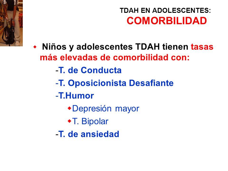TDAH EN ADOLESCENTES: COMORBILIDAD